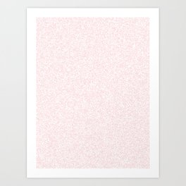 Spacey Melange - White and Light Pink Art Print