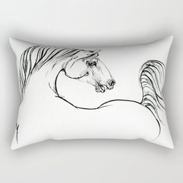 Horse ink drawing Rectangular Pillow