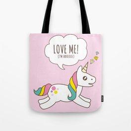 Valentine's Day - Love Me Unicorn Tote Bag