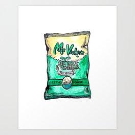 Miss Vickis Salt + Vin Chips Art Print