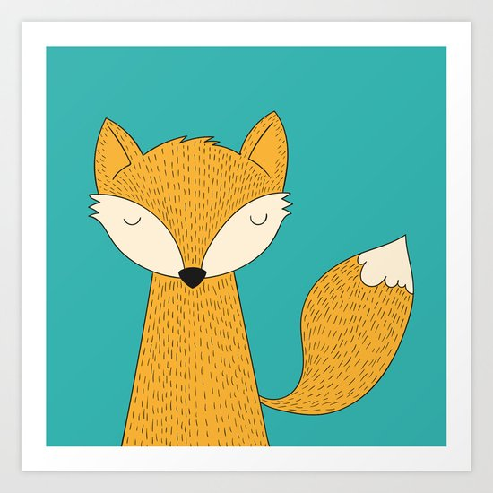 The Fox is back Art Print