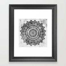 BLACK JEWEL MANDALA Framed Art Print