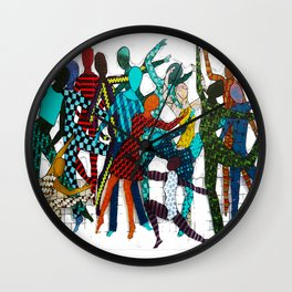 Dancing your own step Wall Clock