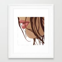 mouth Framed Art Prints featuring Mouth by Derek Donovan