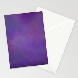Abstract Soft Watercolor Gradient Ombre Blend 14 Dark Purple and Light Purple Stationery Cards