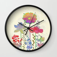 Flower Tales 4 Wall Clock
