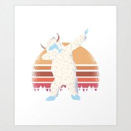 Yeti Dabbing Art Print