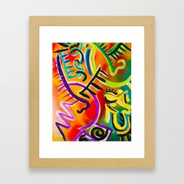 Abstract Couple Framed Art Print