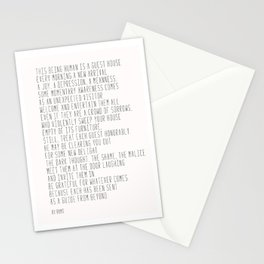 The Guest House #poem #inspirational Stationery Cards