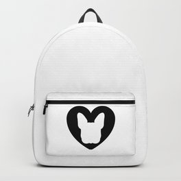 FrenchBulldog Face Black Heart Nose Baby Frenchie Backpack