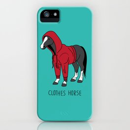 Clothes Horse Red iPhone Case