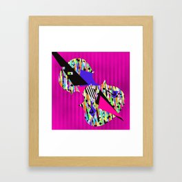 Cello Abstraction on Hot Pink Framed Art Print