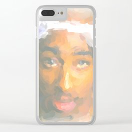 Tupac Clear iPhone Case