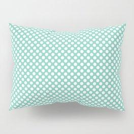 Lucite Green and White Polka Dots Pillow Sham
