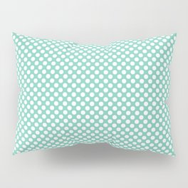Lucite Green and White Polka Dots Pillow Sham