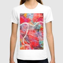 Lewiston map Idaho ID 2 T-shirt