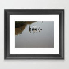 The river 's cryptic message Framed Art Print