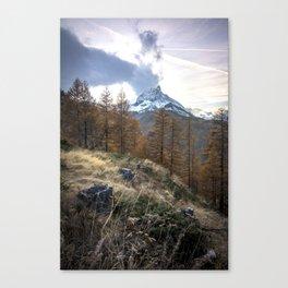 Autumn by the Matterhorn Canvas Print