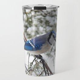 Beautiful Blue Jay Travel Mug