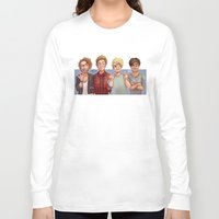 5 seconds of summer Long Sleeve T-shirts featuring 5 Seconds of Summer by gabitozati