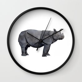 JAVAN RHINO Wall Clock