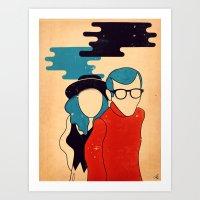 annie hall Art Prints featuring Annie Hall by Roland Lefox