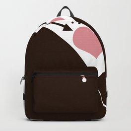 Dark-skinned African girl . Backpack