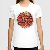 agate T-shirts featuring Fire Agate by David Lee