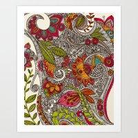 random Art Prints featuring Random Flowers by Valentina Harper