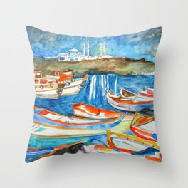Night Sea Istanbul Throw Pillow