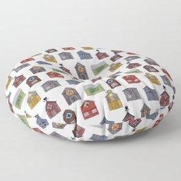 Barn Quilt Illustration Floor Pillow