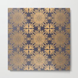 Floral luxury royal antique pattern Metal Print