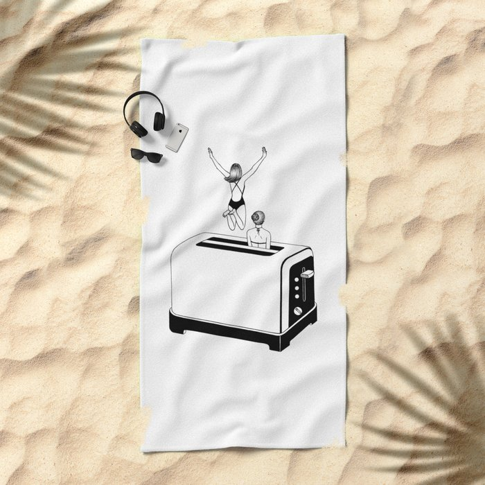 1 Minute Tan Beach Towel