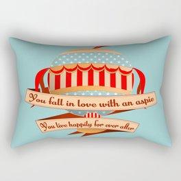 Air Balloon Aspie Love Rectangular Pillow