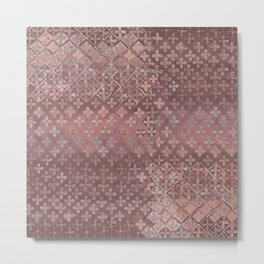 Dusty pink patina Metal Print