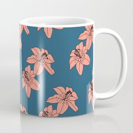 Lily The Tiger - Peach Blue Coffee Mug