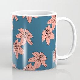 Lily The Tiger - Peach Blue Coffee Mug