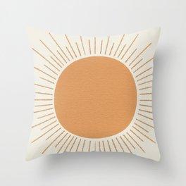 Sun Ray Mid-century Throw Pillow