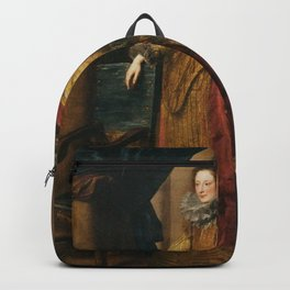 Anthony van Dyck - Portrait of a Genoese Lady Backpack