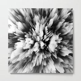 Black And White Elegant Explosions       Metal Print