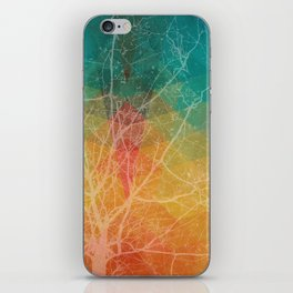 Tree with the knowledge of good & delightful white iPhone Skin