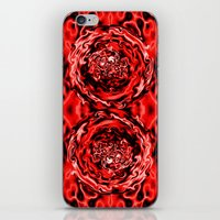 Red Swirl Topography iPhone & iPod Skin