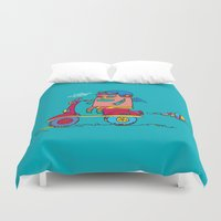 bike Duvet Covers featuring bike by PINT GRAPHICS