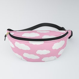 Clouds on Pink Baby Girl Nursery Fanny Pack