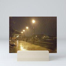 A Rainy Wharf at 2 O'clock in the Morning Mini Art Print