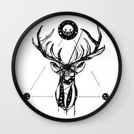 My Deer is My Grave Wall Clock