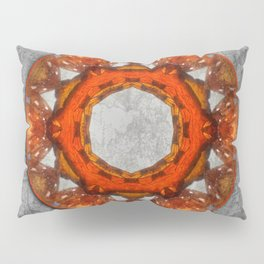 Butterfly wings mandala against bark texture Pillow Sham