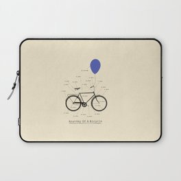 Anatomy Of A Bicycle Laptop Sleeve