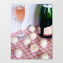 Blushing Bride Cake Truffles Canvas Print