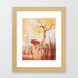 Little Red Bed Framed Art Print